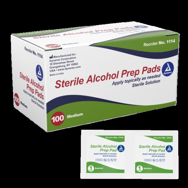 Alcohol Prep Pad Sterile, Medium, 200/bx