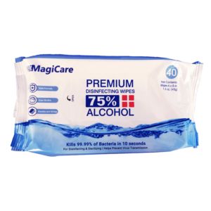 MagiCare Premium Disinfecting Wipes, 75% Alcohol, 40 wipes/pack